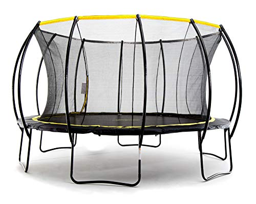 "SkyBound ""Stratos Premium 15 Foot Trampoline with Safety Enclosure Net - Rated for Kids and Teens"