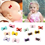 12Pcs Tiny Baby Hair Clips for Fine Hair Boutique Grosgrain Ribbon Hair Bows