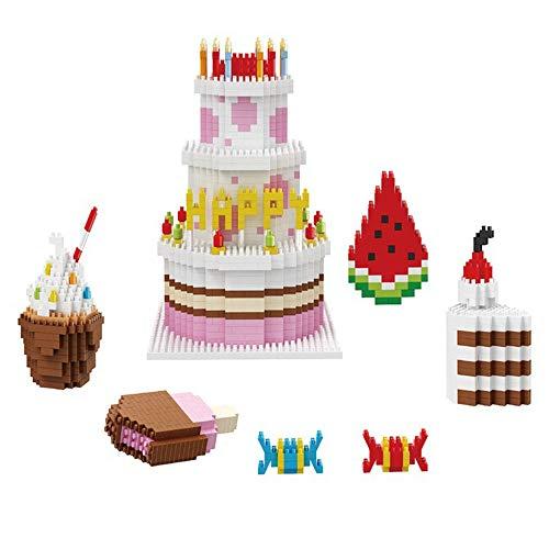 DIY Mini Diamant Bloc de Construction Joyeux Anniversaire gâteau Nano Bloc Briques Jouets éducatifs pour Enfants Cadeaux