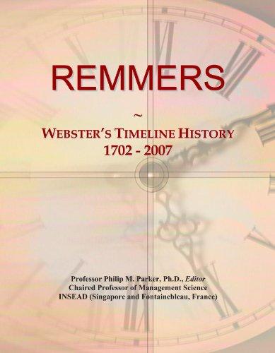REMMERS: Webster's Timeline History, 1702 - 2007