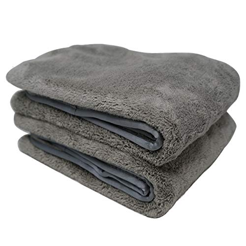 "Platinum Quick Dry, Car Drying Towel. Dries Your Entire Vehicle in 90 Seconds. This Extra Large Towel is Scratch-Free, w/Awesome Absorbency - Pack of 2 (25 1/2"" x 36"")"