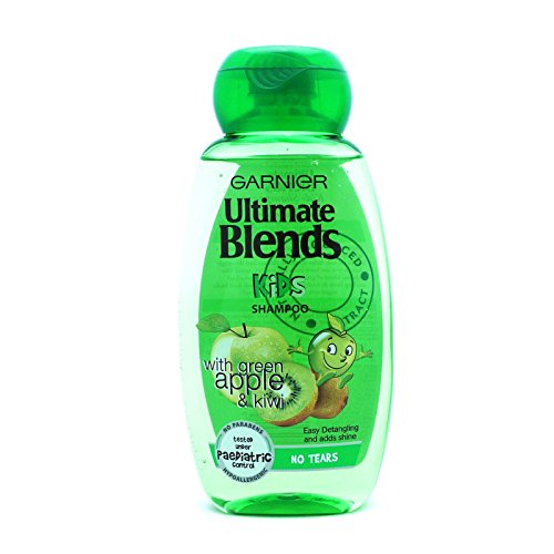 Garnier Ultimate Blends No Tears Kids Shampoo mit Apfel und Kiwi, 250 ml