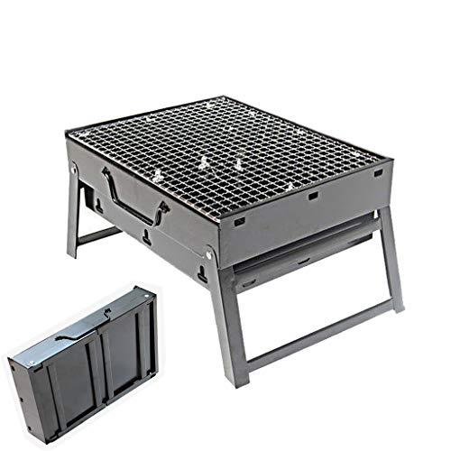 41YF7F erHL - Grills Kochplatten Holzkohlegrill im Freien beweglichen Faltbarer Barbecue Gratis Maschendraht Grillzubehör (Size : L)
