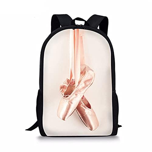 Moda Zapatos de ballet Bailarina de ballet Pintura Mochila escolar para niñas Mochila Niño Adolescente Mochilas escolares para niños Mochilas de libros 28 * 44 * 14 cm 4
