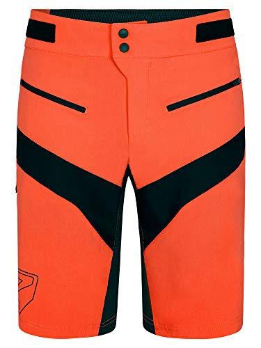 Ziener - Pantaloncini da Ciclismo da Uomo con Pantaloncini Interni, Traspiranti, ad Asciugatura Rapida, Imbottiti, Neideck X-Function, Uomo, 219223, Arancione Pop, 52