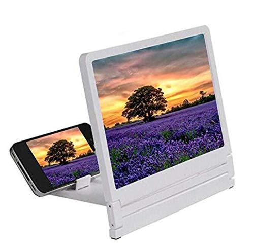 LQ&XL 3D Mobile Pantalla del Telefono Lupa - Portátil Video De Película HD De 8 Pulgadas - Amplificador Retractable De Pantalla De Definición para Teléfono Móvil Interior, Acamp