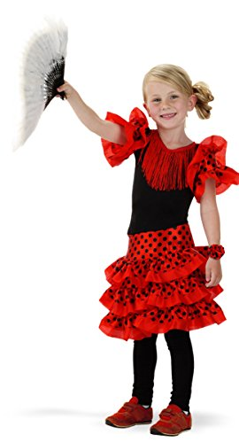 Folat 21827 Espagnol Costume Flamenco pour Enfant (Taille 98–116, Petite Taille)