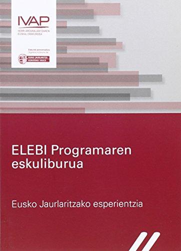 ELEBI Programaren eskulibua: Eusko Jaurlaritzako esperientzia