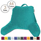 Nestl Reading Pillow, Petite Bed Rest Pillow with Arms for Kids & Young Adults – Premium Shredded Memory Foam TV Pillow - Teal