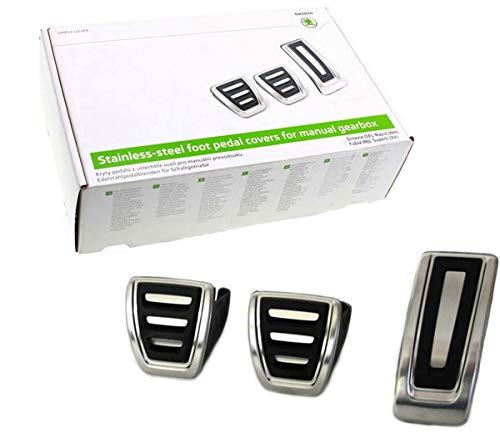 Original Skoda Sportpedal-Set aus Edelstahl für Fahrzeuge mit Schaltgetriebe