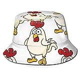Bucket Hat Unisex Fashion Bucket Hat Packable Transpirable Verano Viaje Playa Sol Sombrero Pollo Lindo