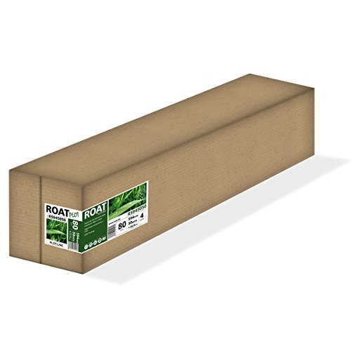 ROAT R5945050 – Rollo de papel inkjet de 80 gr, 594 mm x 50 mtrs, extra blanco, para todo tipo de plotters, 4 uds/caja