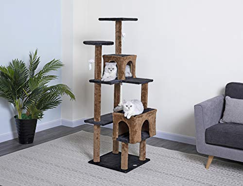 Go Pet Club 61-inch Kitten Cat Tree + Cat Dancer Toy for 38.98