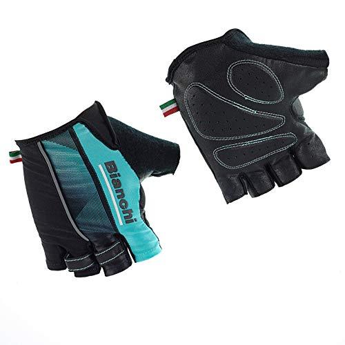 Bianchi - Reparto Corse 2019 Sommerhandschuhe, Größe XL, Farbe Schwarz/Hellblau, Code C9531475