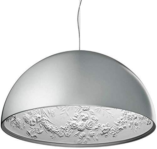 GYYlucky Moderne minimalistische E27 hanglamp lamp hars schaduw met sky-tuin sculptuur patroon creatief design kroonluchter plafondlamp voor woonkamer eetkamer eettafel kelder Φ60cm