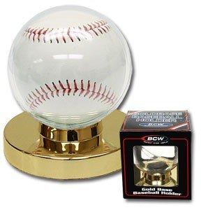 Béisbol vitrina soporte con base de oro–6unidades