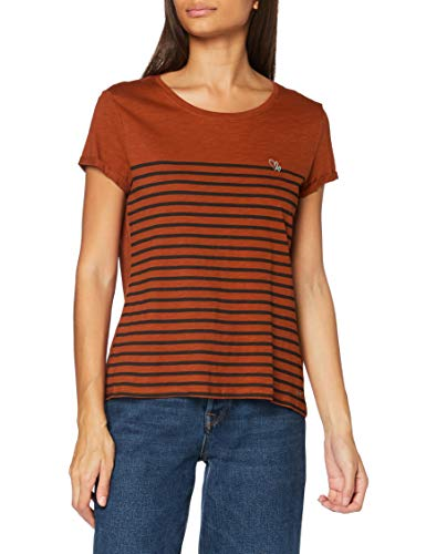 TOM TAILOR Denim Damen Streifen Embro T-Shirt