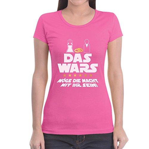 JGA Junggesellinskjutning party krig med din dam t-shirt Slim Fit