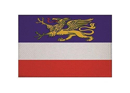 U24 Aufnäher Rostock Fahne Flagge Aufbügler Patch 9 x 6 cm