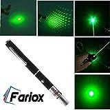 Fariox Green Multipurpose Laser Light Disco Pointer Pen Beam with Adjustable Antena Cap