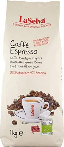 LaSelva Bio Caffè espresso Robusta 60% - Arabica 40%, ganze Bohnen, 1er Pack (1 x 1 kg)