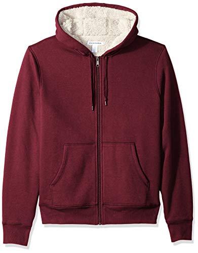 Amazon Essentials Sherpa Lined Full-Zip Hooded Fleece Sweatshirt Novelty-Hoodies, Burgundy, US L (EU L)