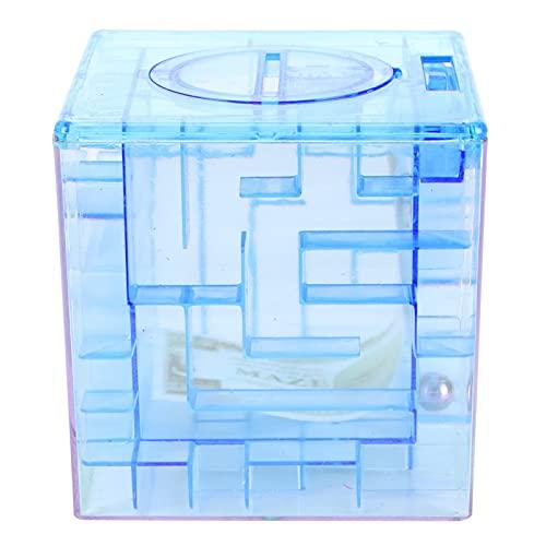 SALUTUY Money Bank, Innovador Rompecabezas Laberinto Caja de Monedas Caja de Ahorro para Dinero para Navidad para Halloween(Blue)