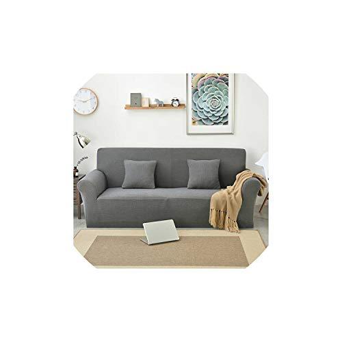 Black-Sky Polar Fleece Slipcover Sofa Solid Color Couch Abdeckung Elastic Voll Sofa Abdeckung...