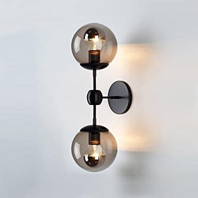 LightInTheBox Double Lights Wall Lamp, Fashion Simplicity Vintage Industrial Metal Based with Glass Material Shade of Wall lamp, Wall Sconce, Globe Shape E26 / E27