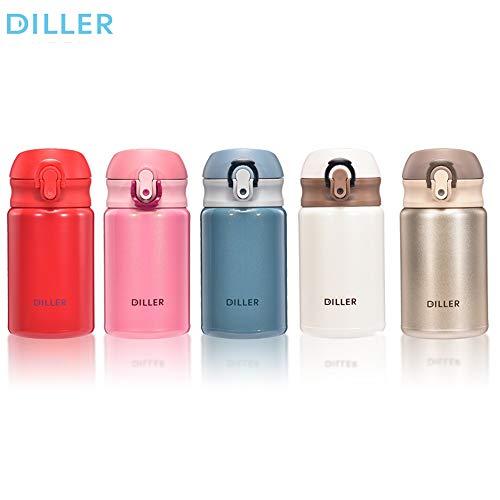 Thermobecher isolierflasche trinkflasche Edelstahl thermosflasche Flasche Vakuum chillys termus 300ml wasserflasche De8717 (300ml, Blau)