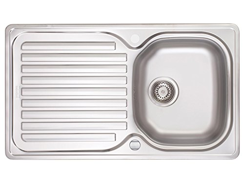 Franke Elba ELN 611 - Edelstahl Spüle glatt Küchenspüle Einbauspüle Exzenterbetätigung