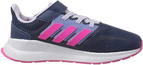 adidas Unisex Kinder RUNFALCON C Running Shoe, Tech Indigo/Shock Pink/Purple Tint, 28 EU