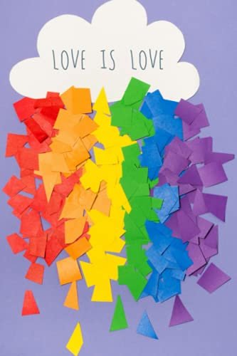 LGBT color purple cloud love is love papers: 6x9 inch, 120 Pages Paperback Notebook