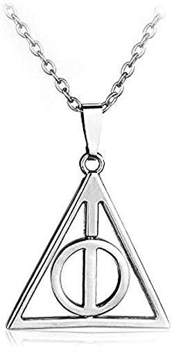 BACKZY MXJP Collar para Hombre Creativo Reliquias De La Muerte Triángulo Retorcido Serpiente Horcrux Sombrero Mágico Snitch Colgantes Collar De Aleación para Fans Amigos Regalo