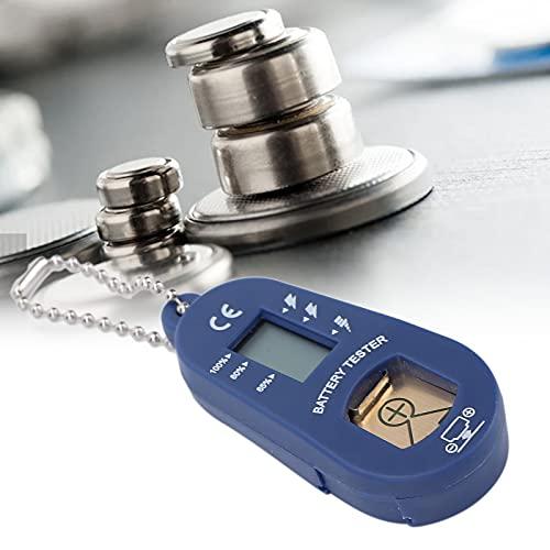 Batterietester für Hörgeräte Tragbarer Batterietester LCD-Display Batterien Messgeräte, Schlüsselring-Design Einfach Abzulesen Leichter Batterietester für Hörgeräte