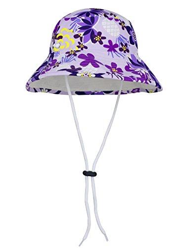 Product Image of the Tuga Girls Reversible Bucket Sun Hat (UPF 50+), Seafoam, Large