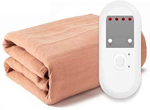 Cobija eléctrica de Doble Control con termostato para Dormitorio, Estudiante, radiación, Seguridad...