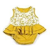 Cvthfyky Baby Strampler Sommer Overall Boutique Rüschen Kleidung Outfit für Kinder Mädchen (Farbe : Gelb, Size : 90)