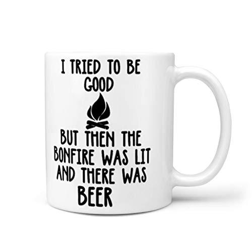 YxueSond Ik probeerde om goed te zijn maar toen het Bonfire was Lit en er was bier koffie mokken nieuwigheid geschenk voor liefhebbers 11oz