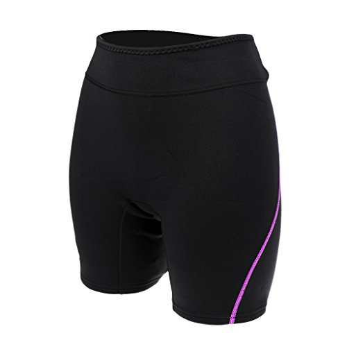 MagiDeal Neoprenhose 1.5mm Neopren Tauchen Shorts Für Damen und Herren Neopren Hosen, in verschiedenen Größen - Lila, Frauen L