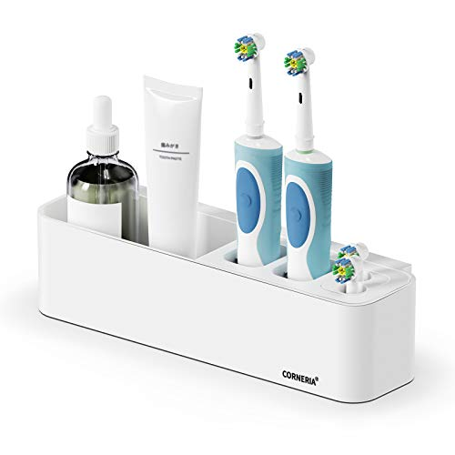BEZOX Toothbrush Holder Wall Mounted, Toothbrushes Organizer with Hollow Bottom for Electric...