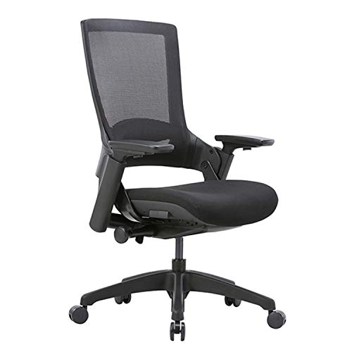 CLATINA Ergonomic High Swivel Executive Chair with Adjustable Height 3D Arm Rest Lumbar Support and Mesh Back for Home Office BIFMA Certified Black