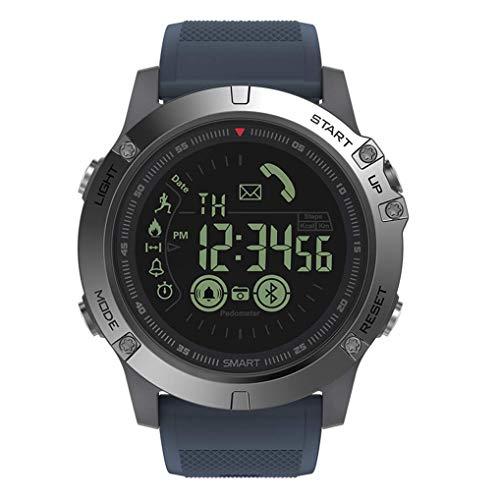 Haoqing Sport Smartwatch Smart Watch stijlvolle training telefoon boys multifunctionele digitale outdoor calorieënteller en informatie herinnering voor Android en iOS Smartphone (rood)