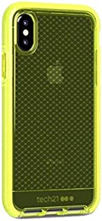 Tech21 Evo Check case for iPhone Xs- Neon Yellow