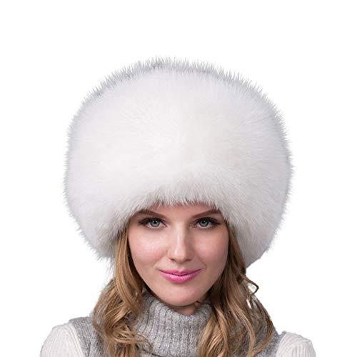 QWERDF Frauen Faux-Pelz-Hut Russischen Kosaken Stil Pompom Cap Winter-Wärmer Für Ski-Schnee Ushanka Jagd,A
