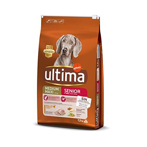 Ultima Pienso para Perros Medium-Maxi Senior de +7 Años con Pollo - 7500 gr