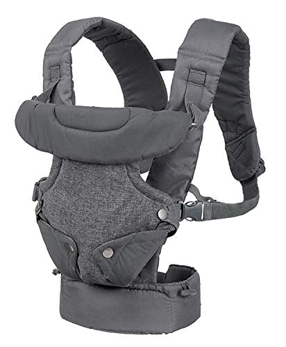 Infantino Flip Advanced 4-in-1 Convertible Baby Carrier, Light Grey