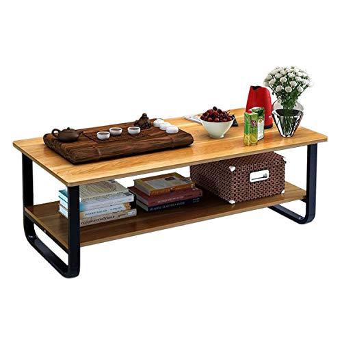 Rectangular Coffee Table with Storage Shelf (48' Wood)