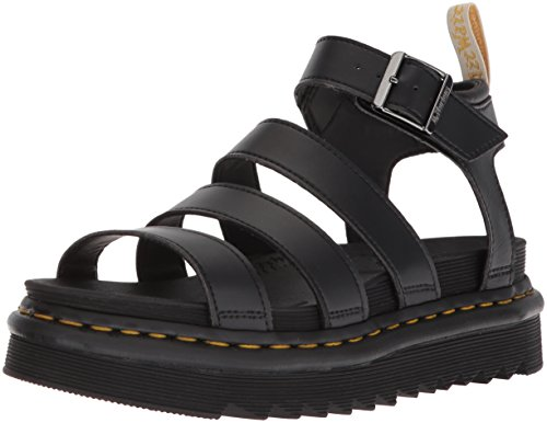 Dr. Martens Women's V Blaire Fisherman Sandal, Black Felix Rub Off, 9
