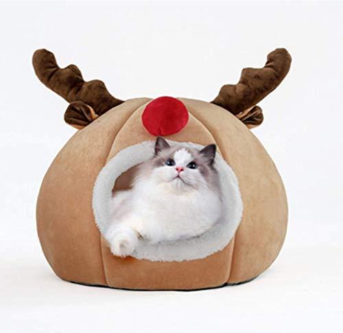 TETHYSUN Cama para mascotas portátil plegable casa para mascotas con cojín para mascotas para mascotas caliente bolsa de cuerpo suave y profundo dormir nido suave tela suave